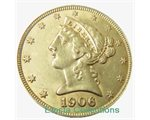 Stati Uniti - LIBERTY HEAD gold 1/4 oz, 1906 (AU)