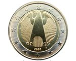 Germany – 2 Euro, the Eagle, 2002 (unc in capsule)
