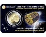 Belgio - 2 Euro, Satellite ESRO-2B, 2018 (coin card)