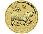 Australia - Gold coin BU 1/4 oz, Year of the Pig, 2019