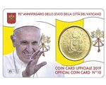 Vatican - 50 Cent, COIN CARD - N. 10 YEAR 2019
