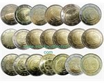 All Countries – 20 X 2 €, 10 years EMU, 2009 (coin box)