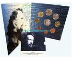 Greece - Official BU Coin Set 2009 + 10 Euro  Yiannis Ritsos