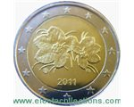 Finland - 2 Euro, Cloudberry, 2011 (in capsule)
