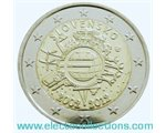 Slovakia – 2 Euro, 10 Years of EURO cash, 2012