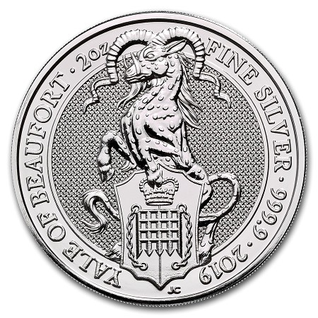 Great Britain - Yale of Beaufort, silver 2 oz, 2019