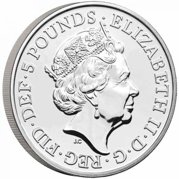 Great Britain - 5 pounds, Greyhound of Richmond, 2021