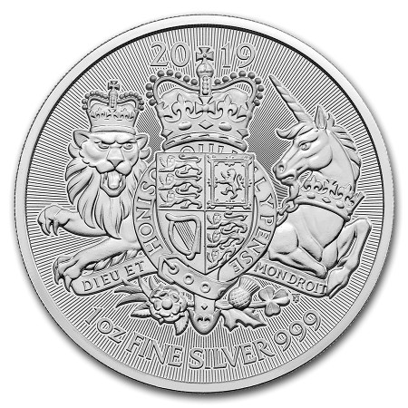Gran Bretana - The Royal Arms Silver Coin BU 1 oz, 2019