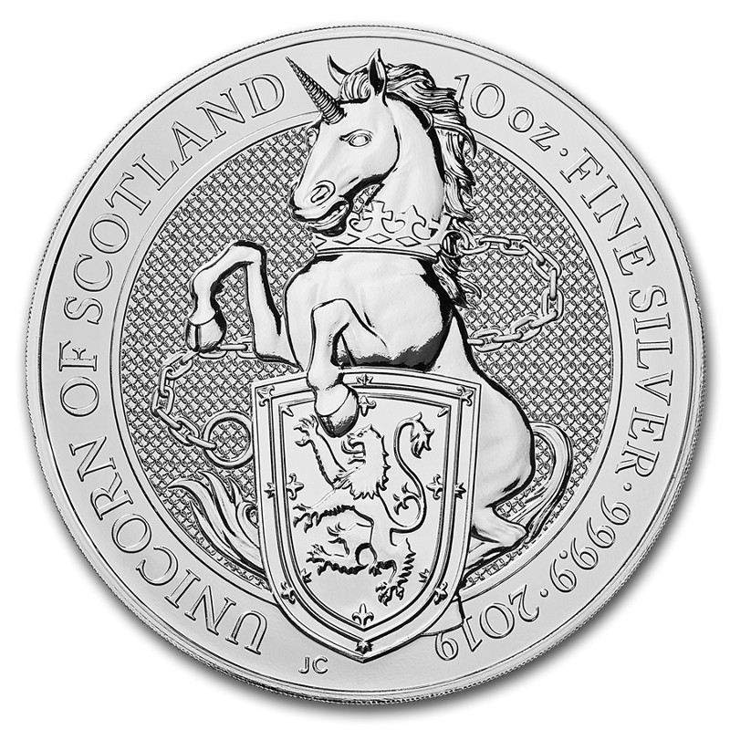 Royaume Uni - 10 oz silver, Queen's Beasts, UNICORN, 2019
