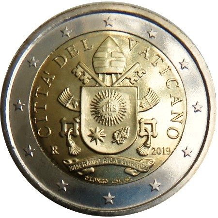 Vatican - 2 €, Coat of Arms Pope Francis 2019 (BU in caps)