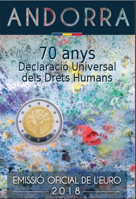 Andorra - 2 Euro, Declaration of Human Rights, 2018