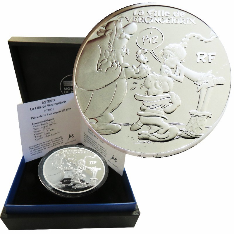 Francia - 10 Euro Plata proof, Asterix - New Album, 2019
