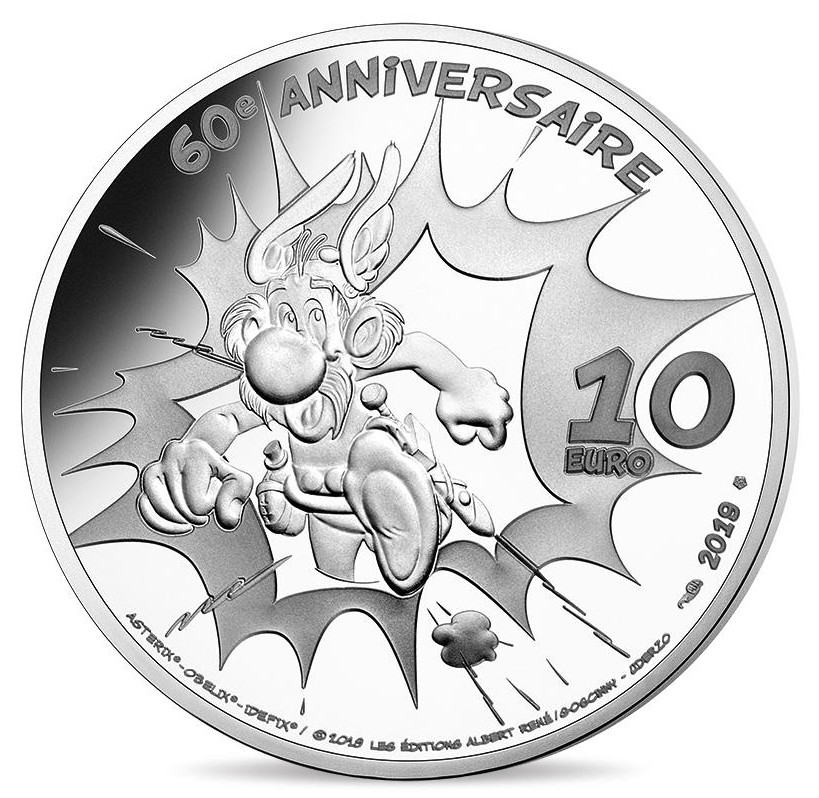 France - 10 Euro Silver proof, Asterix - New Album, 2019