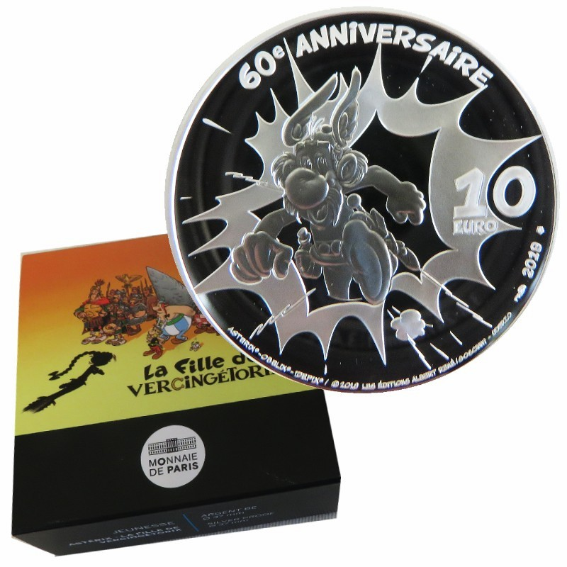 Frankreich - 10 Euro Silber proof, Asterix - New Album, 2019