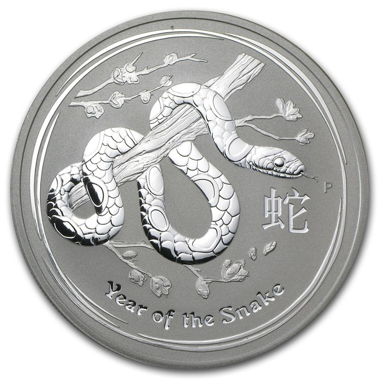 Australia - Silver coin BU 1 oz, Year of the Snake, 2013