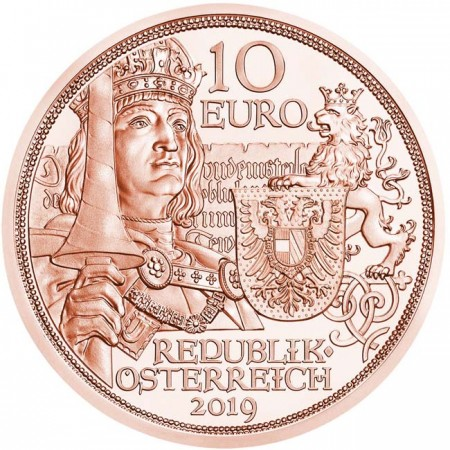 Autriche - 10 euros, Knights CHIVALRY, 2019 (Copper)
