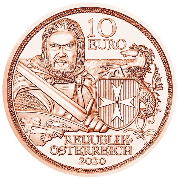 Austria - 10 Euro FS , Knights FORTITUDE,  2020 (Copper)