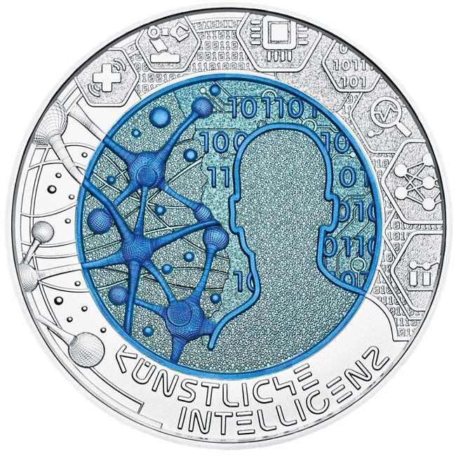 Austria - 25 Euro AgNiob, Artificial Intelligence, 2019