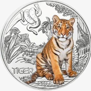 Austria - 3 Euro, Colourful creatures -  el Tigre, 2017