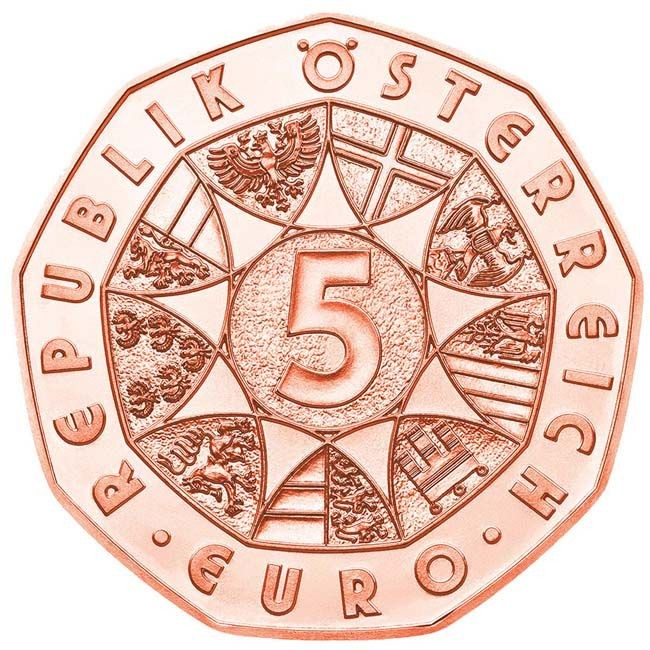 Austria - 5 Euro copper, FRIENDS FOR LIFE, 2020