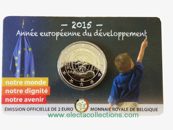 Belgium – 2 Euro Europ. Year of development 2015 (coin card)