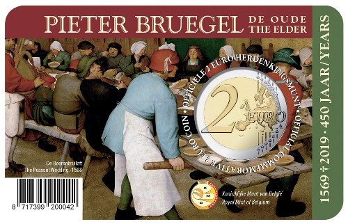 Belgium – 2 Euro, Pieter Bruegel the Elder, 2019 (coin card FR)