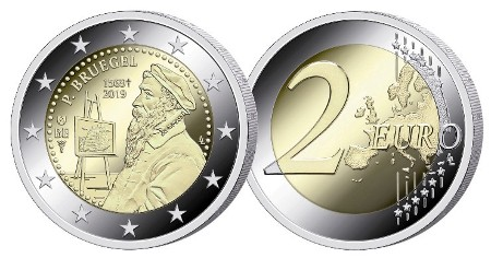 Belgique - 2 Euro, Pieter Bruegel the Elder, 2019 (proof)