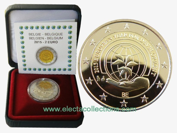 Belgium – 2 Euro Europ. Year of development 2015 (proof)