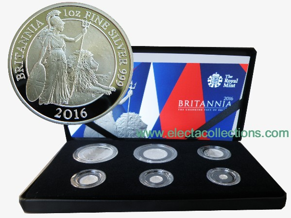 Regno Unito - Britannia Six-Coin Silver Proof Set, 2016