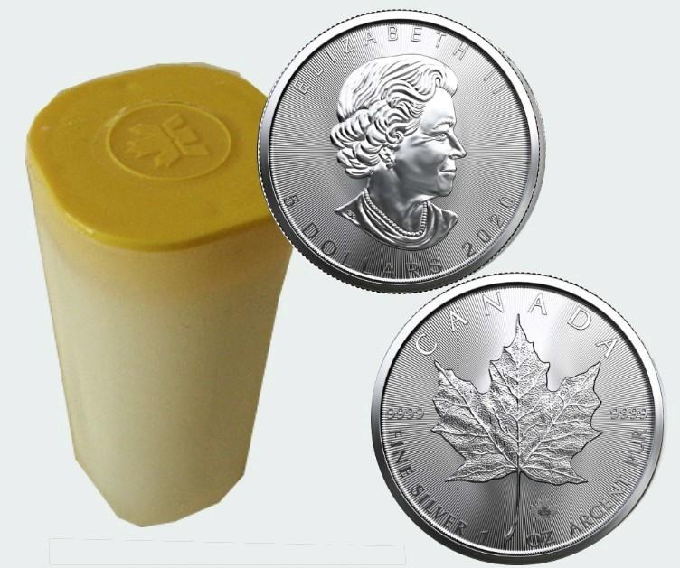 Canada - 25 Χ Silver coin BU 1 oz, Maple Leaf, 2020