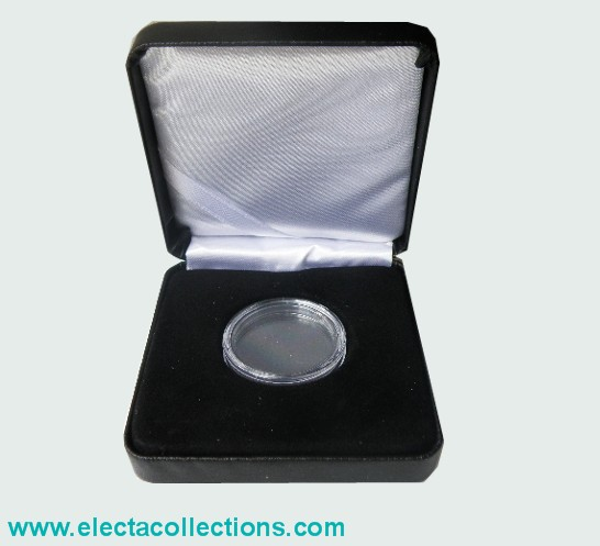 Coin box for 1 coin in capsule (ext. diametre 46 mm)