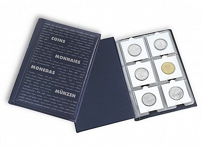 Pocket album for 60 coins in coin holders