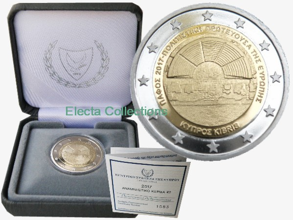 Cyprus – 2 Euro Paphos, Capital of Culture, 2017 (proof)