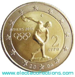 Greece - 2 Euro Olympic Games in Athens, 2004