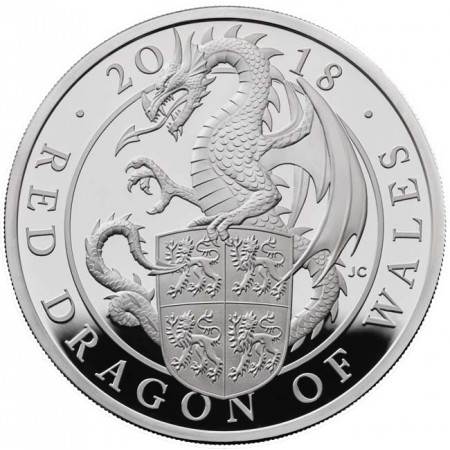 Großbritannien - DRAGON OF WALES 1 oz silver proof, 2018