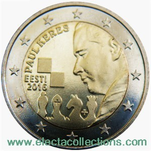 Estonia – 2 Euro, Paul Keres, 2016
