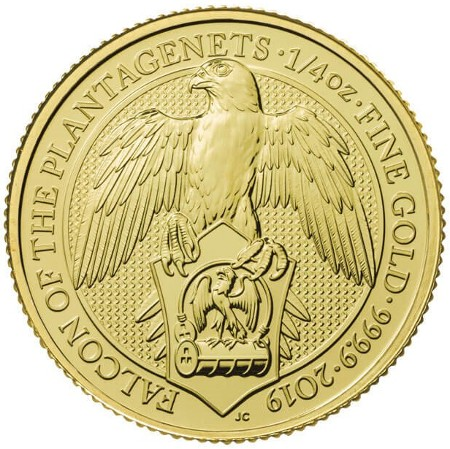 Royaume Uni - Gold Coin 1/4 oz, Falcon of the Plantagenets, 2019