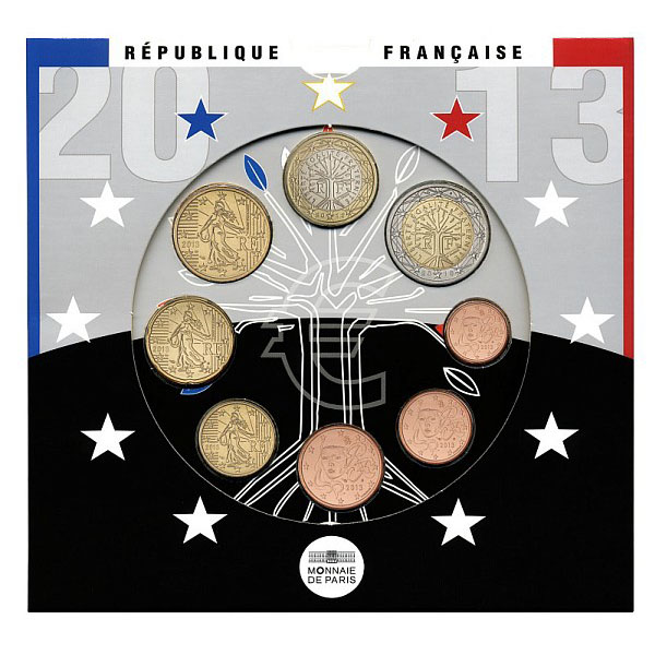 France - Euro coins, Official BU Set 2013
