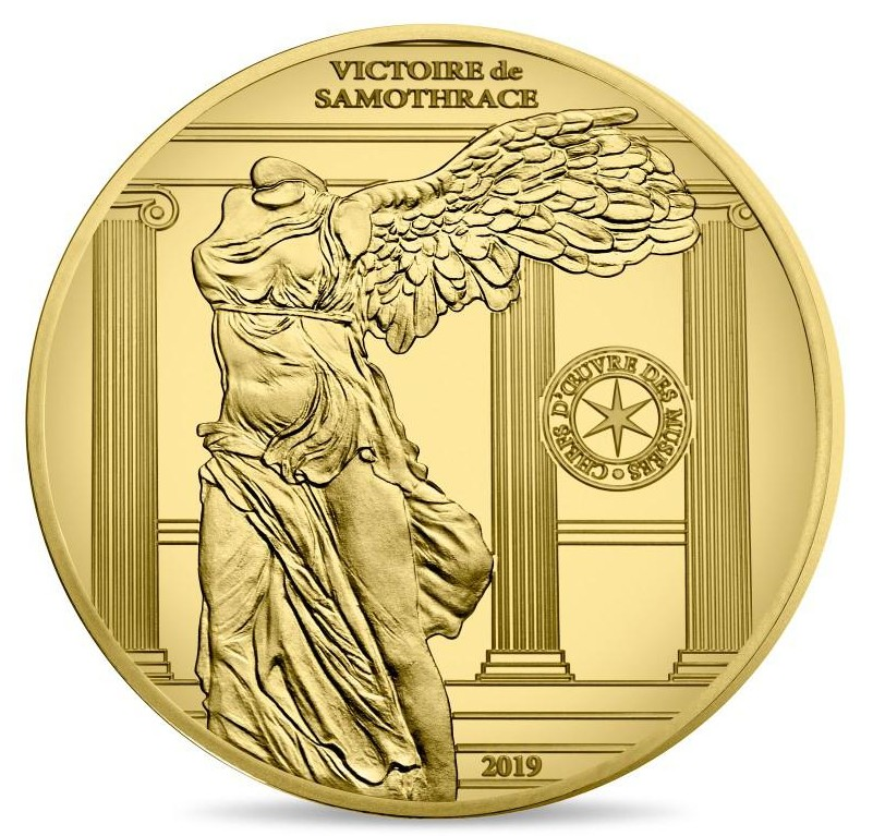 France - 50 Euro gold, VICTORY OF SAMOTHRACE, 2019