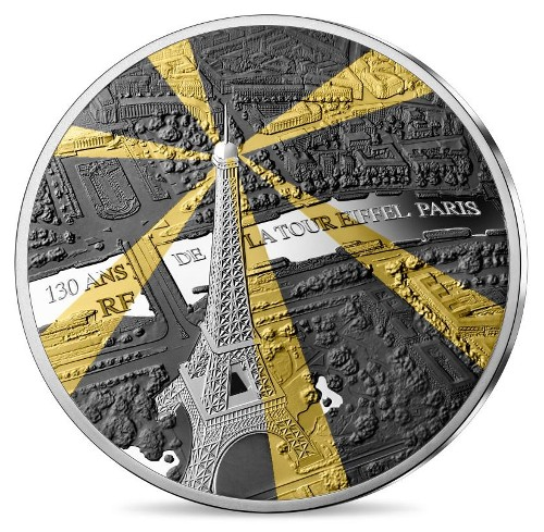 France - 10 Euro Ag proof, EIFFEL TOWER, 2019