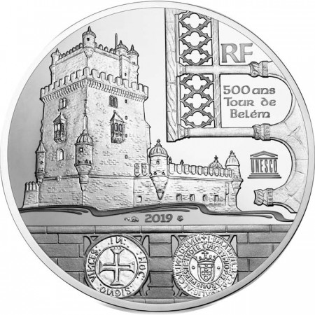 France - 10 Euro Silver Tower of Belem - Vasco de Gama, 2019