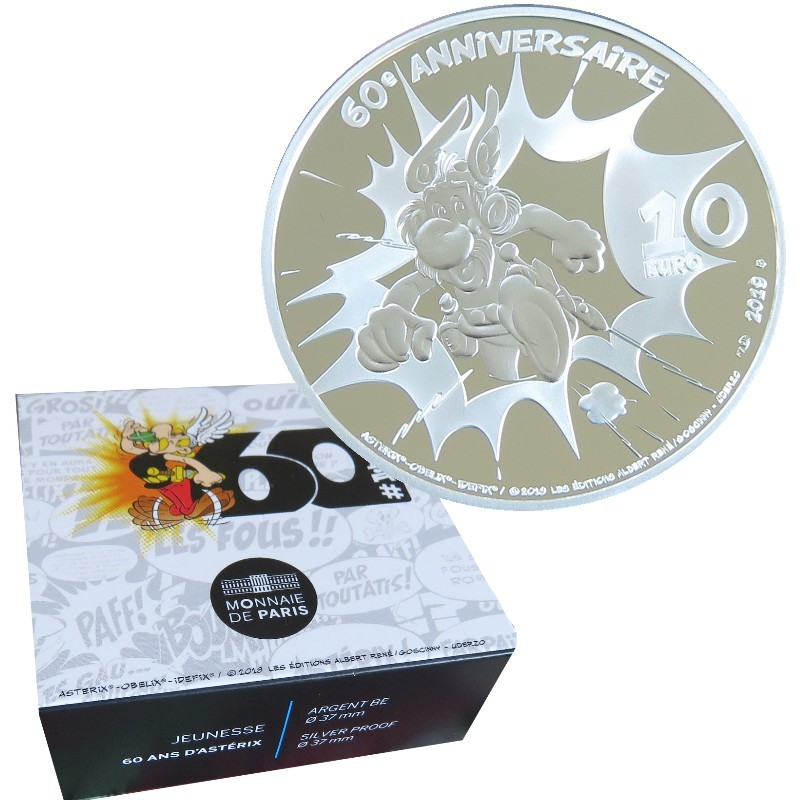 Francia - 10 Euro Plata proof, ASTERIX, 2019