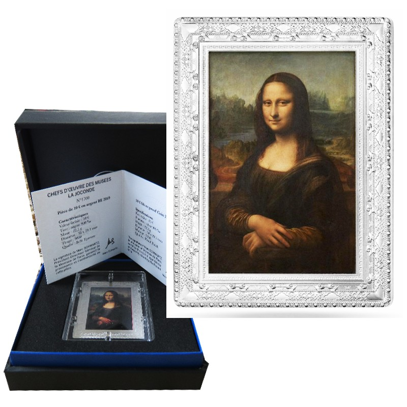 Francia - 10 Euro Plata proof, MONA LISA, 2019