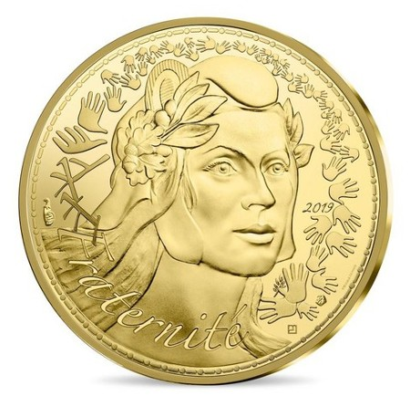 France - 250 Euro d'or, Marianne - Fraternite, 2019