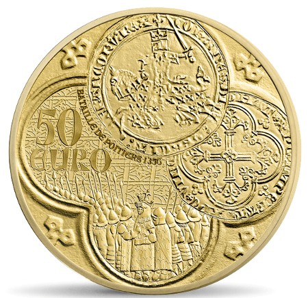 France - 50 Euro d'or BE, Franc a Cheval, 2015