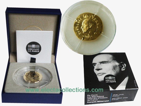 France - 50 Euro gold, Francois Mitterrand, 2015