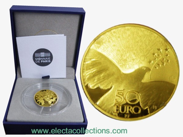 France - 50 Euro d'or BE, la paix en Europe, 2015