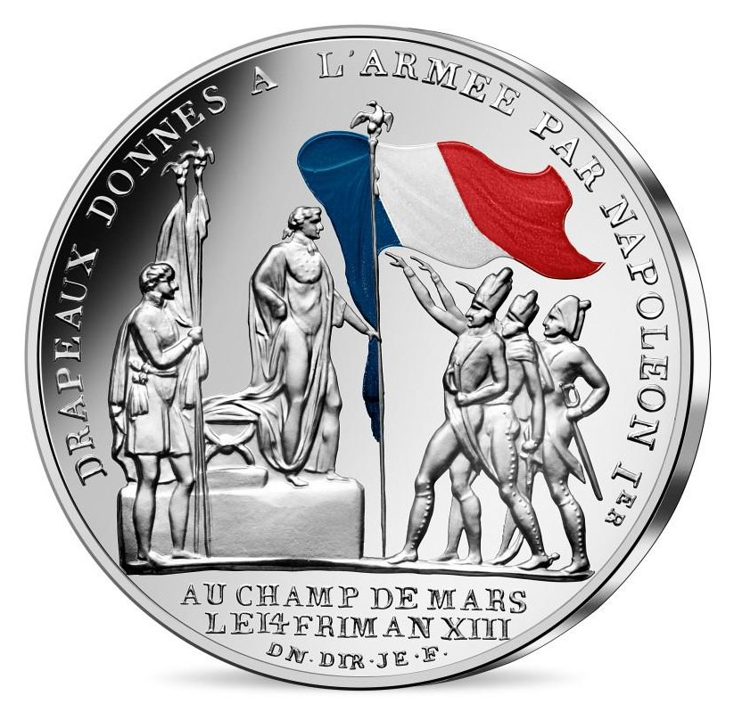 France - 50 Euro silver, French flag, 2019 (blister)