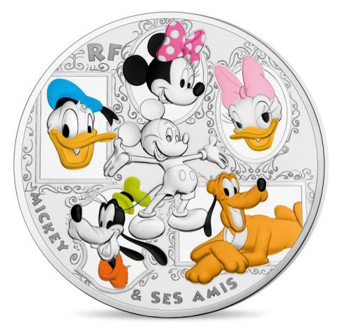 France - 50 Euro Silver, Mickey and his friends, 2018