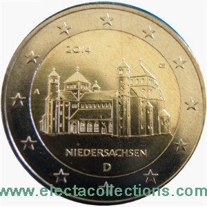 Germany – 2 Euro, St. Michael, Lower Saxony, 2014 (A,D,F,G,J)